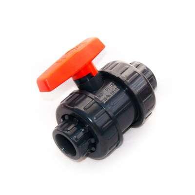 Kugelhahn DN 25 mm (1 Zoll) Klebemuffen Innendurchmesser PVC Kunststoff Hahn Absperrhahn