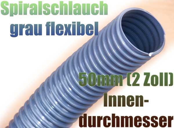 spiralschlauch-grau-50mm-2-zoll-uv-bestaendig-wasser-garten-teich-abwasser-pvc-kunststoff