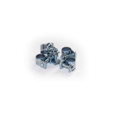 Mini Schlauchschelle (Spannbackenschelle) 8-10 mm W1 rundziehend 9mm breit als 5 Stück Set