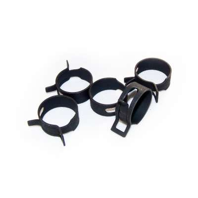 Federschellen W1 im 5 Stück Set für 25-32 mm Durchmesser schwarz beschichtet