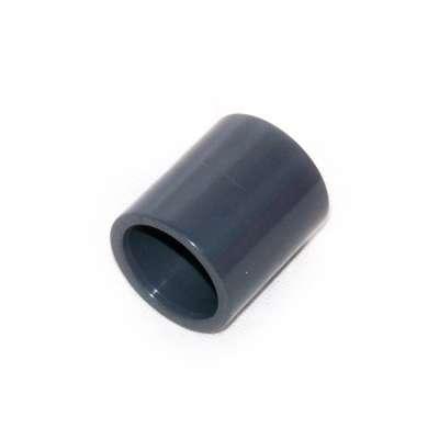 Muffe, Klebemuffe, Muffenrohr 32 mm Innendurchmesser (eineinviertelzoll, 1 1/4 Zoll) beidseitig Rohr Verbindung unlösbar PVC Kunststoff