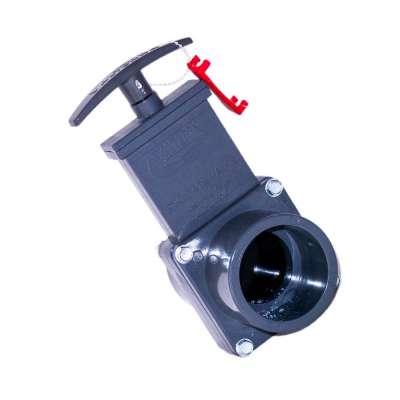 Absperrschieber DN 50 mm Valterra (Zugschieber) für KG, HT und PVC Rohre aus Kunststoff