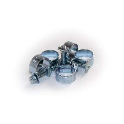 Mini Schlauchschelle (Spannbackenschelle) 15-17 mm W1 rundziehend 9mm breit als 5 Stück Set