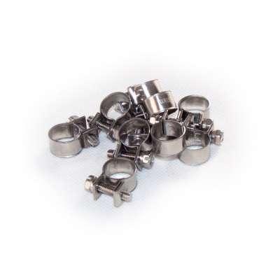 Mini Schlauchschelle 11-13 mm W4 Edelstahl rostfrei rundziehend 9mm breit als 10 Stück Set