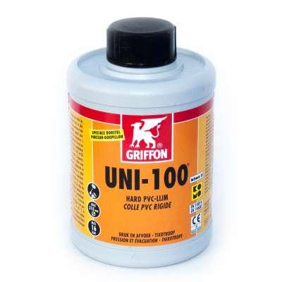 PVC Kunststoff Kleber Griffon UNI 100 in der 1 Liter Dose für PVC-U Fittings zum Verkleben