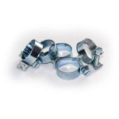 Mini Schlauchschelle (Spannbackenschelle) 20-22 mm W1 rundziehend 9mm breit als 5 Stück Set