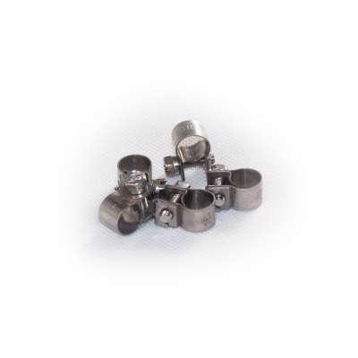 Mini Schlauchschelle 8-10 mm W4 Edelstahl rundziehend 9mm breit als 5 Stück Set