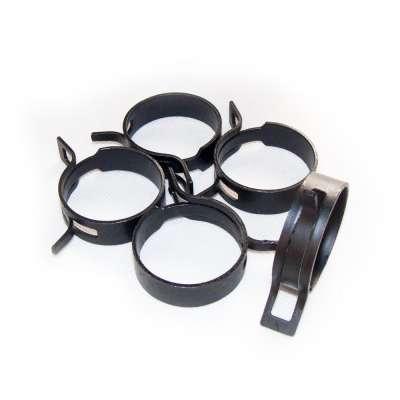 Federschellen W1 im 5 Stück Set für 36-44 mm Durchmesser schwarz beschichtet