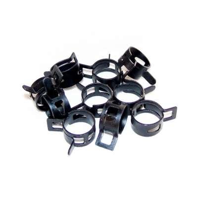 Federschellen W1 im 10 Stück Set für 18-24 mm Durchmesser schwarz beschichtet als Sortiment kaufen
