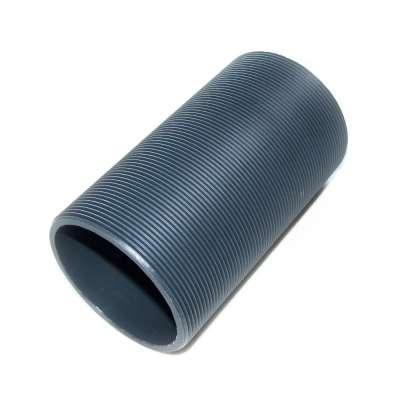 Gewinderohr hohl mit G 2 1/2 Zoll Gewinde aussen und 120 mm Länge aus PVC Kunststoff Plastik als Gewinderollen