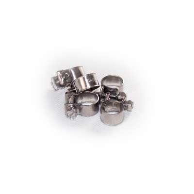 Mini Schlauchschelle 11-13 mm W4 Edelstahl rundziehend 9mm breit als 5 Stück Set