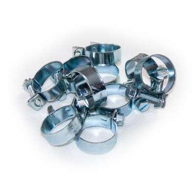 Mini Schlauchschelle (Spannbackenschelle) 20-22 mm W1 rundziehend 9mm breit als 10 Stück Sortiment