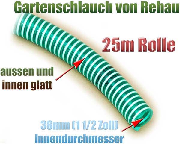 gartenschlauch-flexibel-38mm-1-1-2-zoll-25m-rolle-rehau-gruen-transparent-knickfrei-spirale-pumpe-1