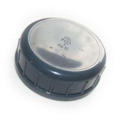 Verschlusskappe mit Dichtung und G 3 Zoll Innengewinde aus PVC-U Kunststoff von VDL