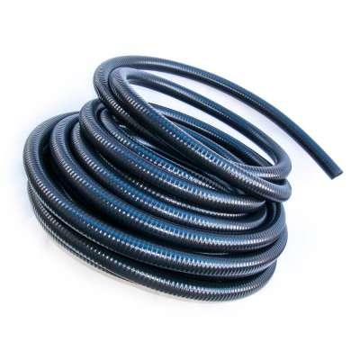 Saugschlauch glatt in schwarz von Rehau mit 40mm (1 1/2 Zoll) Durchmesser und UV-beständig als Meterware