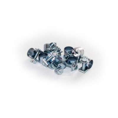 Mini Schlauchschelle klein (Spannbackenschelle) 8-10 mm W1 rundziehend 9mm breit als 10 Stück Set