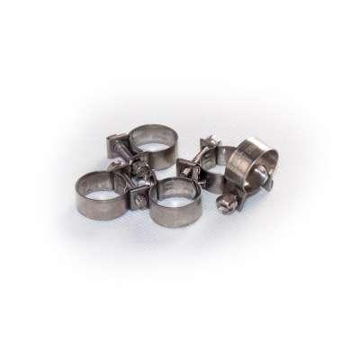 Mini Schlauchschelle 15-17 mm W4 Edelstahl (z.B. V2A oder V4A) rundziehend 9mm breit als 5 Stück Set