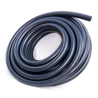 Saugschlauch glatt in schwarz von Rehau mit 32mm (1 1/4 Zoll) Durchmesser und UV-beständig als 25m Rollenware
