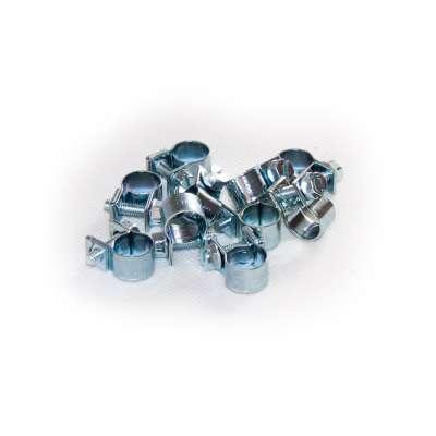 Mini Schlauchschelle klein (Spannbackenschelle) 9-11 mm W1 rundziehend 9mm breit als 10 Stück Set