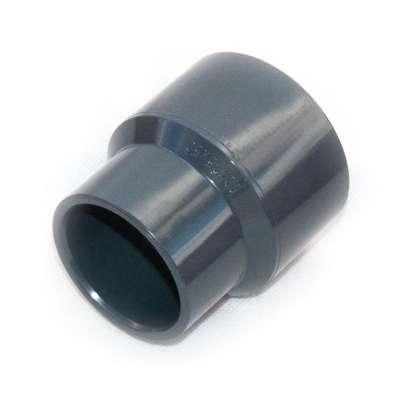 Muffe, Klebemuffe, Muffenrohr 50 x 63 x 75 mm Durchmesser Reduziermuffe Adapter Verbinder Reduzierung Rohrverbindung ohne schweissen PVC Kunststoff