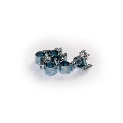 Mini Schlauchschelle (Spannbackenschelle) 7-9 mm W1 rundziehend 9mm breit als 5 Stück Set