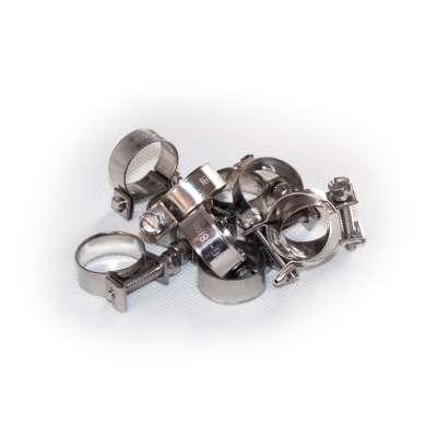 Mini Schlauchschelle 16-18 mm W4 Edelstahl rostfrei rundziehend 9mm breit als 10 Stück Sortiment