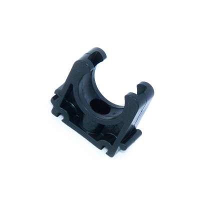 Rohrschelle 25mm VDL (1 Zoll) PP Kunststoff Plastik schwarz Halbschale Clip ohne Gummieinlage