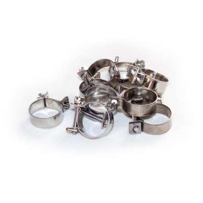 Mini Schlauchschelle 19-21 mm W4 Edelstahl rostfrei rundziehend 9mm breit als 10 Stück Sortiment