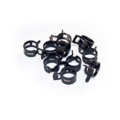 Federschellen W1 im 10 Stück Set für 12-15 mm Durchmesser schwarz beschichtet als Sortiment