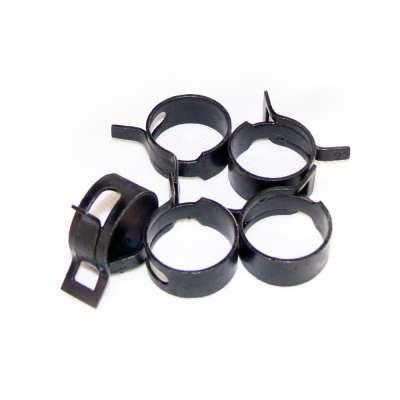 Federschellen W1 im 5 Stück Set für 23-30 mm Durchmesser schwarz beschichtet