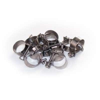 Mini Schlauchschelle 15-17 mm W4 Edelstahl rostfrei rundziehend 9mm breit als 10 Stück Sortiment