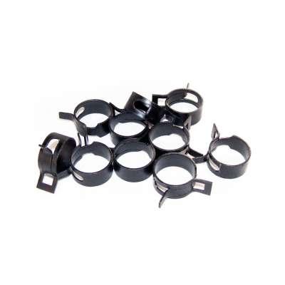 Federschellen W1 im 10 Stück Set für 23-30 mm Durchmesser schwarz beschichtet als Sortiment kaufen