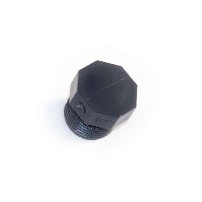 Verschlussstopfen mit G 3/4 Zoll Aussengewinde (ca. 26,30mm Durchmesser) aus PVC Kunststoff als runder Gewindestopfen
