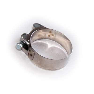 Gelenkbolzenschelle einteilig (Bolzen-Schlauchschelle) mit 64-67 mm Spannbereich in W2 Edelstahl rundziehend günstig online kaufen