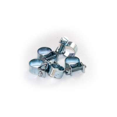 Mini Schlauchschelle (Spannbackenschelle) 12-14 mm W1 rundziehend 9mm breit als 5 Stück Set
