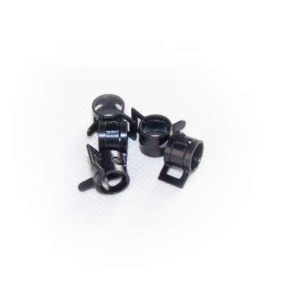Federschellen W1 im 5 Stück Set für 8-11 mm Durchmesser schwarz beschichtet