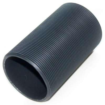 Gewinderohr hohl mit G 3 Zoll Gewinde aussen und 150 mm Länge aus PVC Kunststoff Plastik als Rolle, Rohr oder Hülse