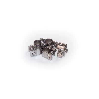 Mini Schlauchschelle 7-9 mm W4 Edelstahl rundziehend 9mm breit als 5 Stück Set